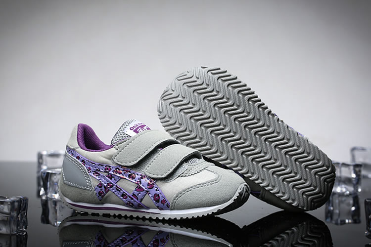(Grey/ Purple) Onitsuka Tiger California 78 TS Little Kid's Shoes