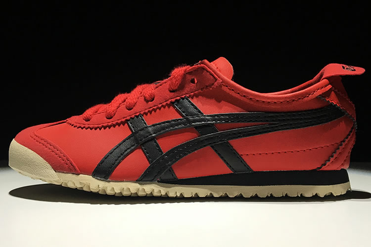 (Red/ Black) Onitsuka Tiger Mexico 66 TS Big Kid's Shoes