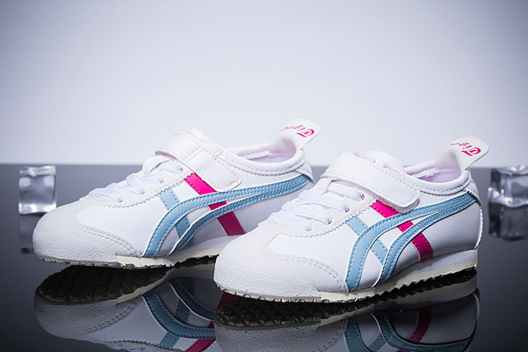 (White/ Light/ Red) Onitsuka Tiger Mexico 66 PS Kid's Shoes