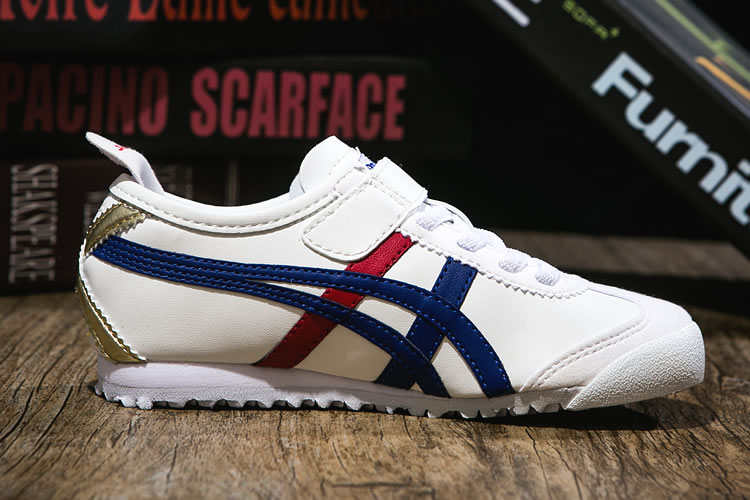 (White/ Blue/ Red/ Gold) Onitsuka Tiger PS Kid Shoes