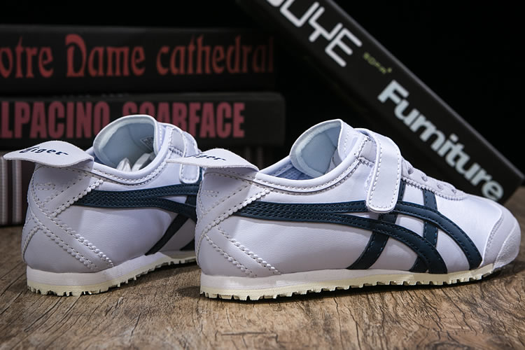 (White/ Blue) Onitsuka Tiger PS Kid Shoes