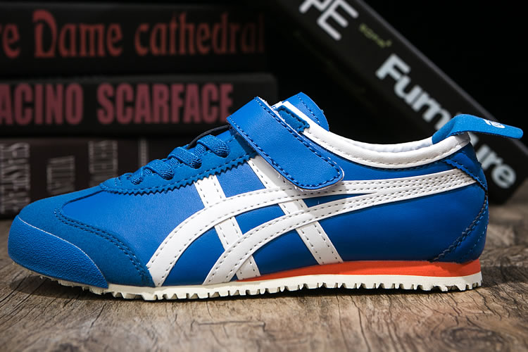 (Blue/ White/ Orange) Onitsuka Tiger PS Kid Shoes