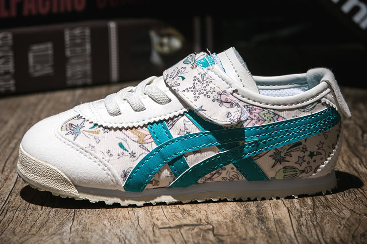 (White/ Blue) Onitsuka Tiger Mexico 66 TS Kid's Shoes