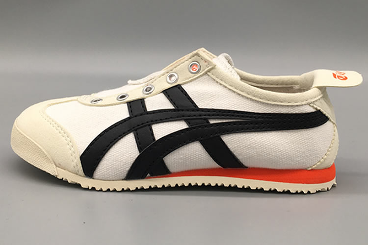 (Beige/ Black/ Orange) Onitsuka Tiger SLIP ON Big Kid's Shoes