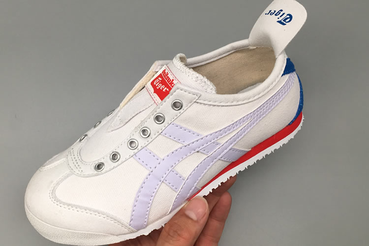 (Beige/ White/ Blue/ Red) Onitsuka Tiger SLIP ON Big Kid's Shoes