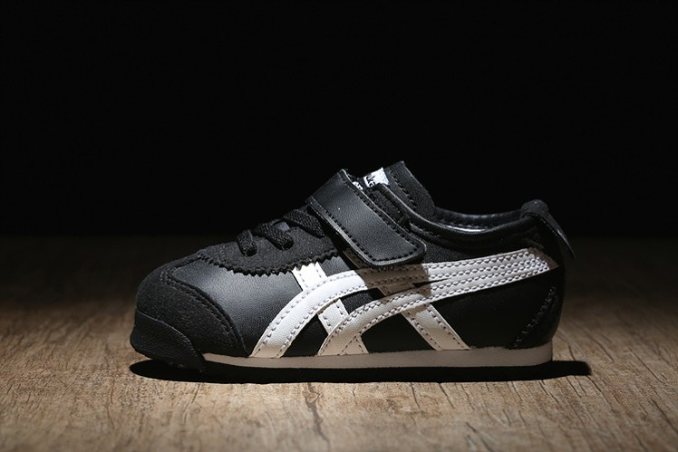 (Black/ White) Onitsuka Tiger Mexico 66 BAJA TS Little Kid's Shoes