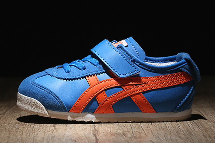 (Blue/ Orange) Onitsuka Tiger Mexico 66 BAJA TS Little Kid Shoes