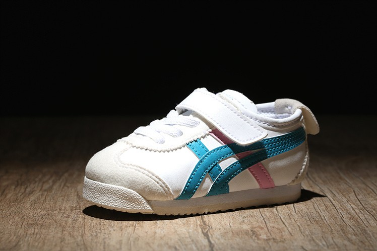 (Blue/ White/ Pink) Onitsuka Tiger Mexico 66 BAJA TS Little Kids Shoes