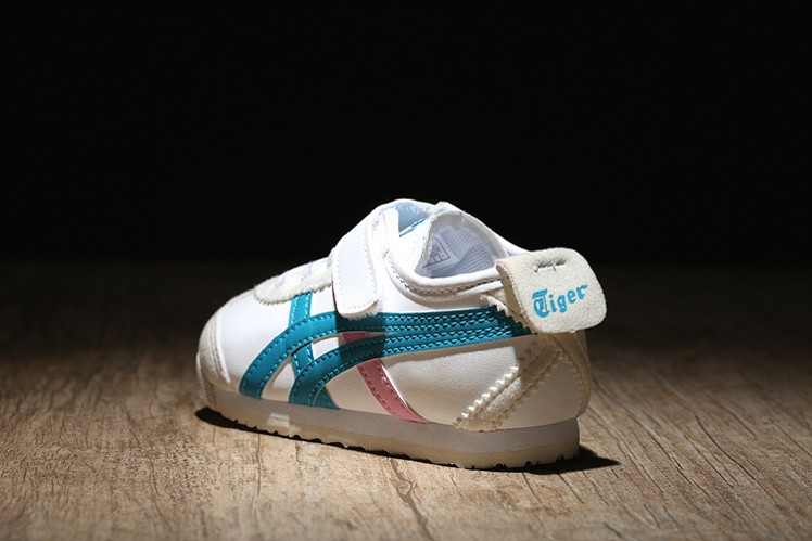 release date 219f9 1c395 Blue/ White/ Pink) Onitsuka Tiger Mexico 66 BAJA TS Little ...