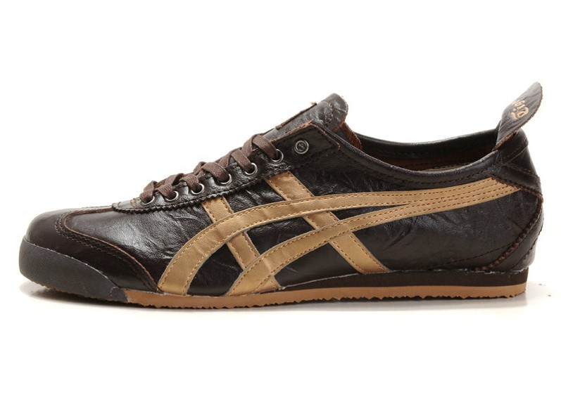 Men's Onitsuka Tiger LAUTA Shoes Mexico 66 New (Brown/ Gold)