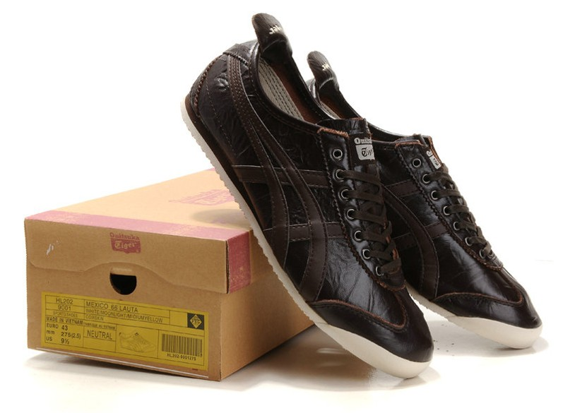 Men's Onitsuka Tiger LAUTA NEW Mexico 66 Brown Shoes