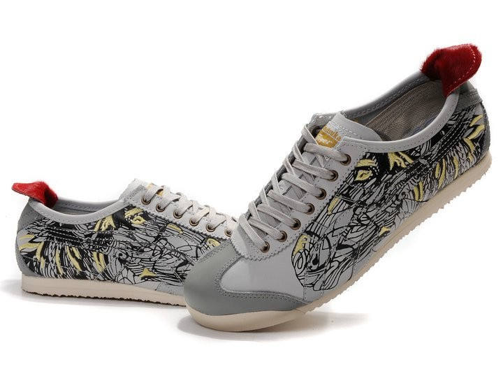 Onitsuka Tiger (Grey Red) Mexico 66 LAUTA Shoes [THL7G1