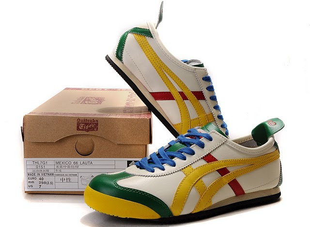 Mens Onitsuka Tiger (Beige/ Yellow/ Green/ Red) LAUTA Shoes