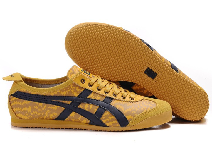 Mens Onitsuka Tiger Mexico 66 LAUTA Yellow Black Shoes