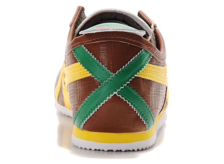 Mens Brown/ Yellow/ Red/ Green) Mexico 66 LAUTA Shoes