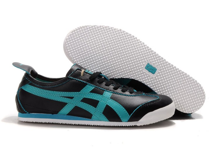 Mens Black Aqua Onitsuka Tiger Mexico 66 Shoes