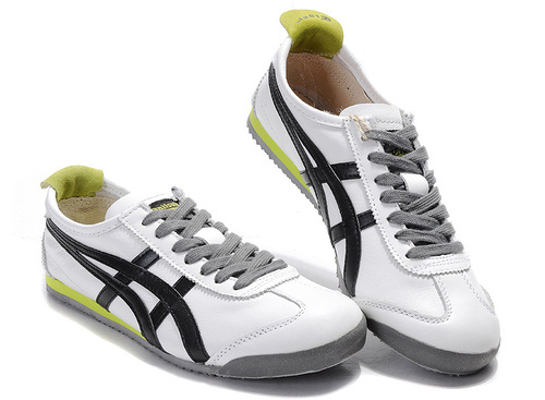 Mens White Black Yellowgreen Onitsuka Tiger Mexico 66 Shoes