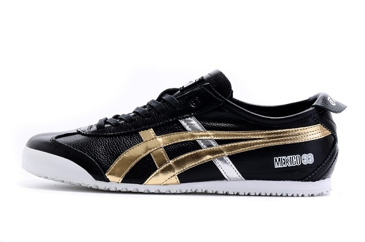 (Black/ Gold) Men's Onitsuka Tiger Mexico 66 New Shoes