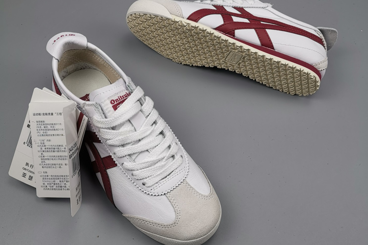 (White/ Wine Red) Mexico 66 Unisex Shoes