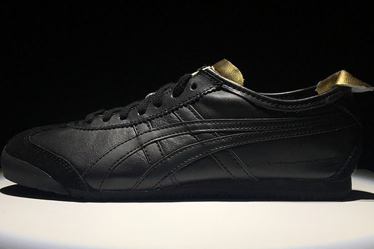 (Black/ Gold) Onitsuka Tiger Mexico 66 Shoes