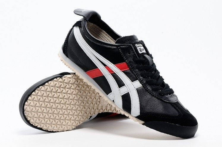 (Black/ White/ Red) Onitsuka Tiger Mexico 66 Shoes - Click Image to Close