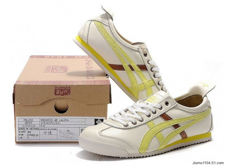 Men's Onitsuka Tiger Mexico 66 Beige Yellow Gold Shoes