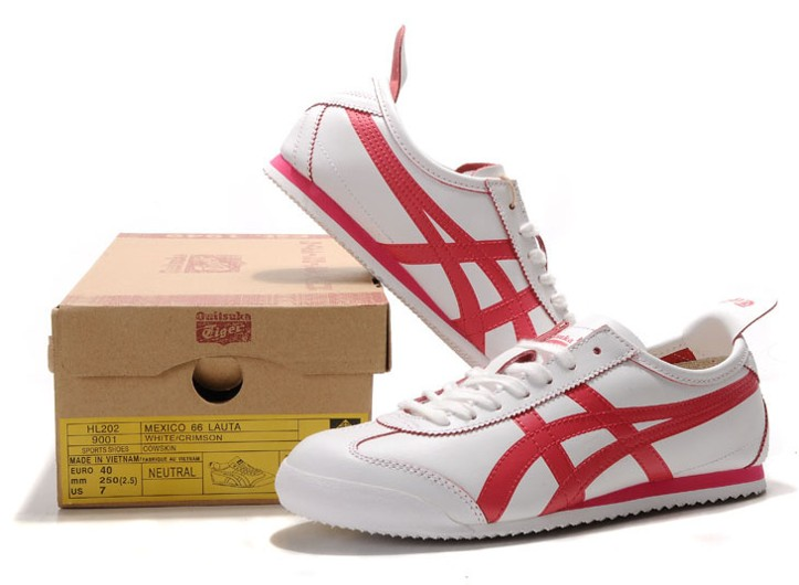 Men's Onitsuka Tiger Mexico 66 White Red Shoes