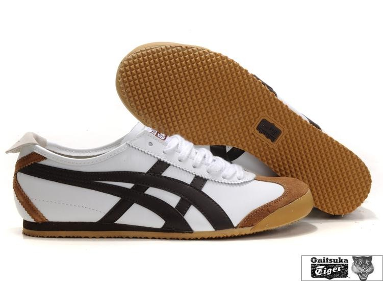 Mens White Chocolate Onitsuka Tiger Mexico 66 Shoes