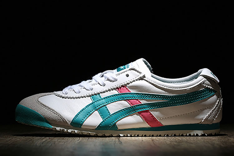 (White/ Green/ Red) Onitsuka Tiger Mexico 66 Women Shoes - Click Image to Close