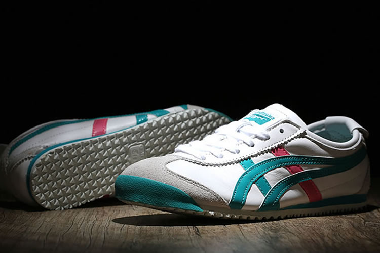 (White/ Green/ Red) Onitsuka Tiger Mexico 66 Women Shoes