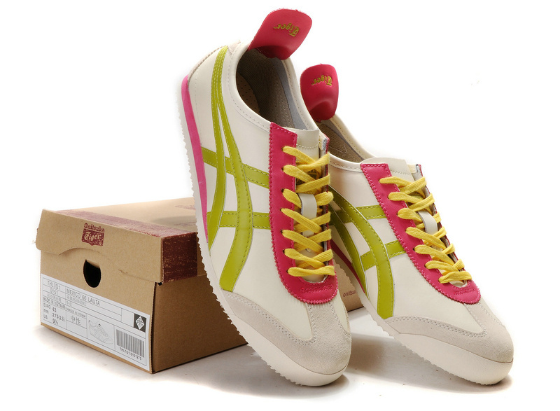 Onitsuka Tiger Mexico 66 Beige Red Yellow Mens Shoes