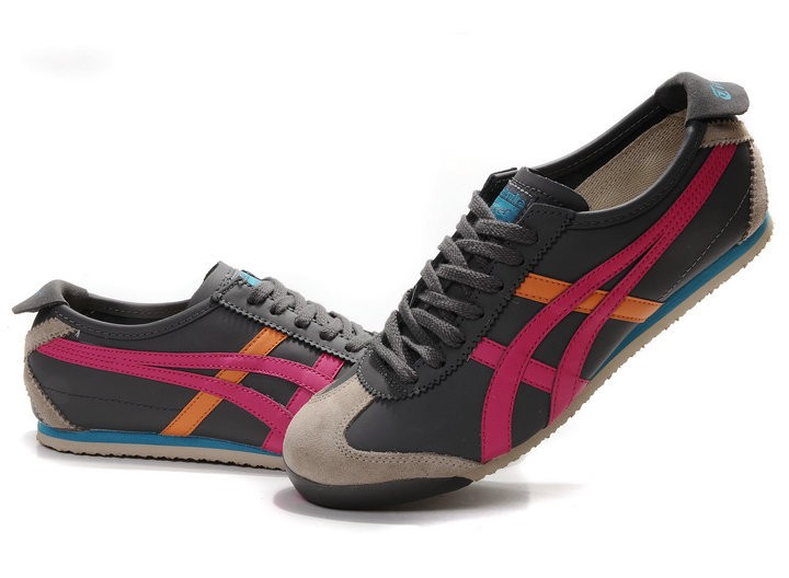 Onitsuka Tiger (Light Grey/ Red/ Orange) Mexico 66 Shoes