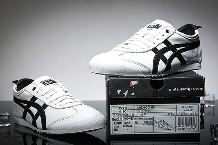 (White/ Black) Onitsuka Tiger Mexico 66 shoes