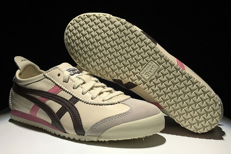 (Beige/ Brown/ Pink) Onitsuka Tiger Mexico 66 Women Shoes