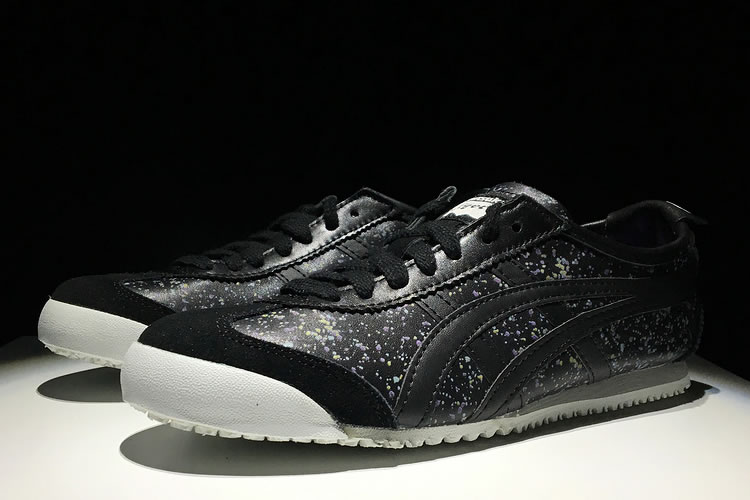 (Black/ Black) New Onitsuka Tiger Mexico 66 Shoes - Click Image to Close