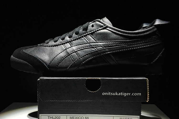 Onitsuka Tiger Mexico 66 (All Black) Shoes - Click Image to Close