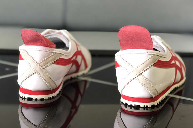 (White/ Red) Onitsuka Tiger Mexico 66 Shoes