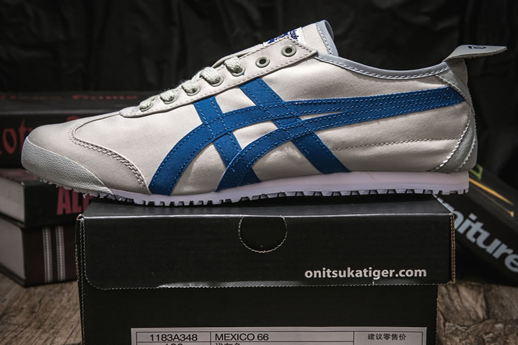 (LT Grey/ Blue) Onitsuka Tiger Mexico 66 Shoes