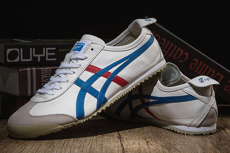 (White/ Blue/ Red) Onitsuka Tiger Mexico 66 Classical Shoes - Click Image to Close