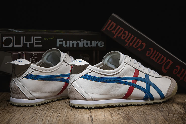 (White/ Blue/ Red) Onitsuka Tiger Mexico 66 Classical Shoes
