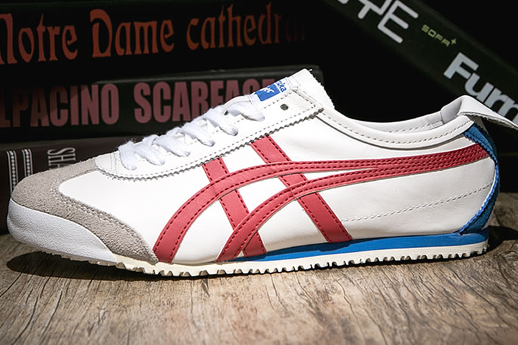 (White/ Red/ Blue) Onitsuka Tiger Mexico 66 Shoes