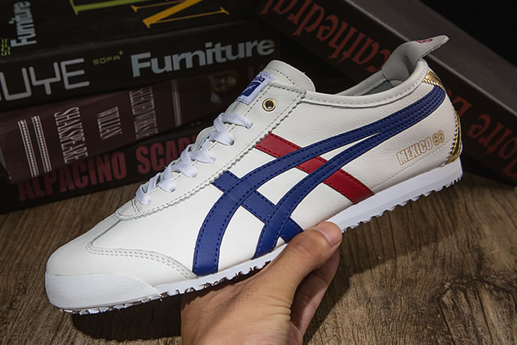 Onitsuka Tiger (White/ Blue/ Red/ Gold) Mexico 66 Shoes