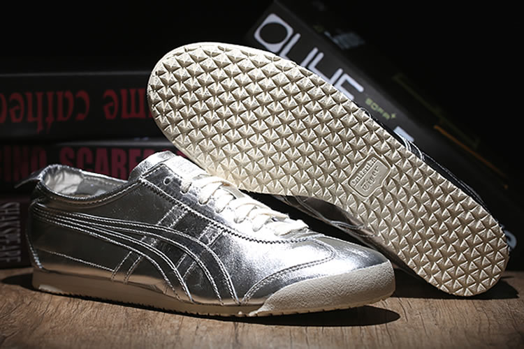 (All Silver) Onitsuka Tiger Mexico 66 New Retro Shoes