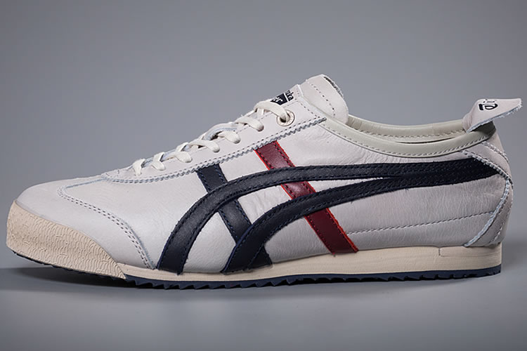 (Beige/ DK Blue/ Red) Onitsuka Tiger Mexico 66 New Shoes