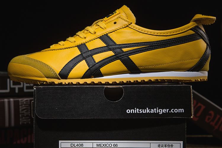 Onitsuka Tiger Mexico 66 (Yellow/ Black) Shoes - Click Image to Close