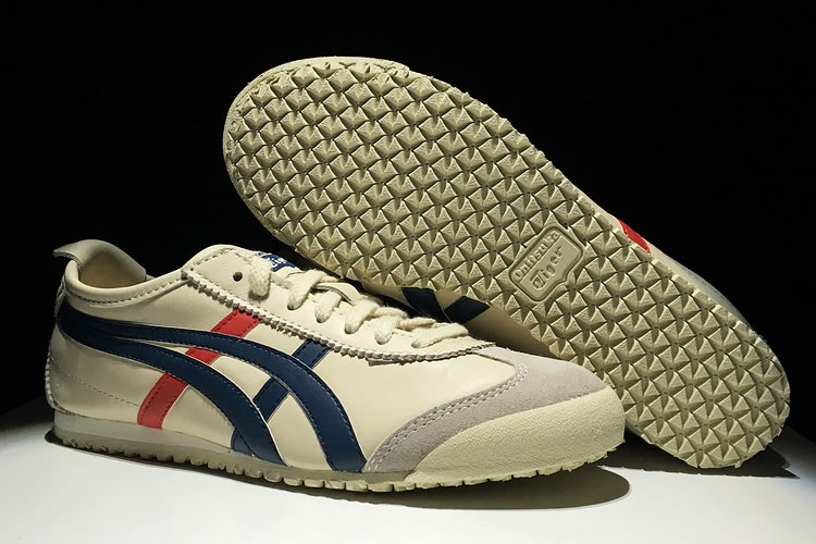 (Beige/ Blue/ Red) Onitsuka Tiger Mexico 66 Shoes