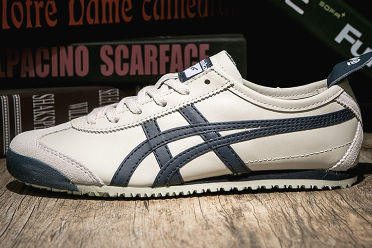 Onitsuka Tiger Mexico 66 (Beige/ DK Blue) Shoes