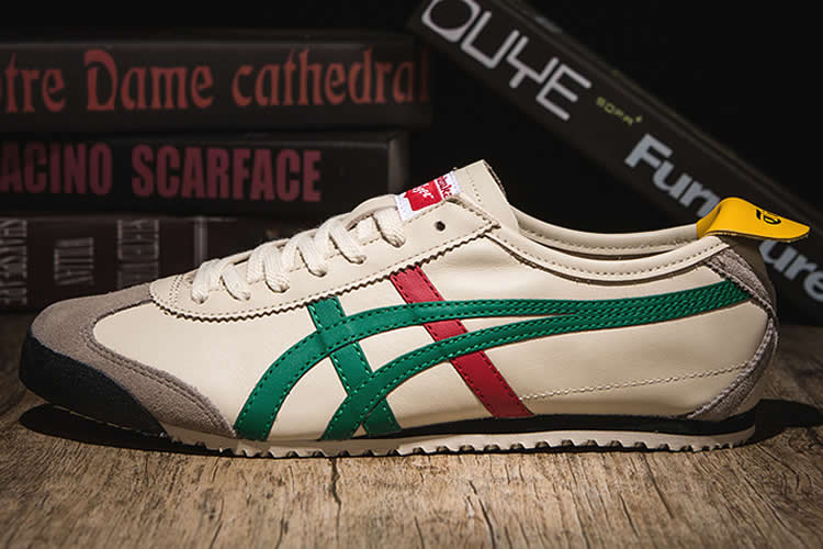 (Beige/ Green/ Red/ Gold) Onitsuka Tiger Mexico 66 Shoes