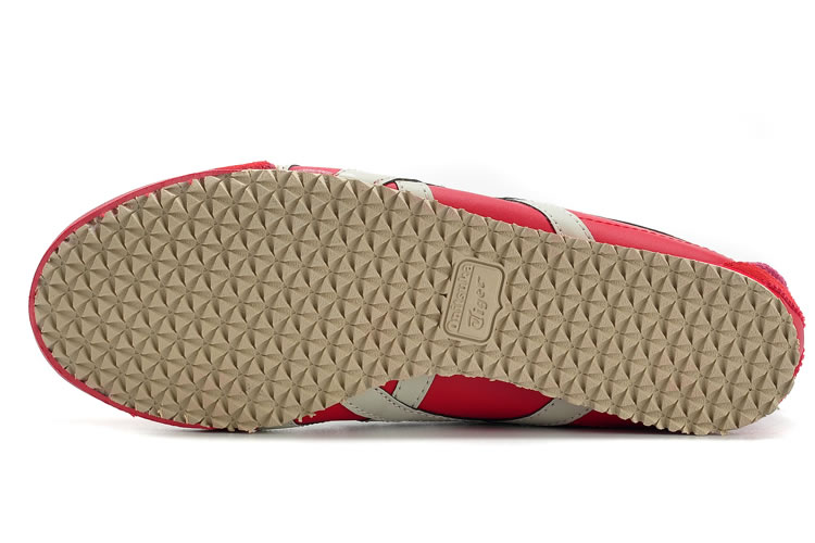 (Red/ Beige) Onitsuka Tiger Mexico 66 Shoes - Click Image to Close