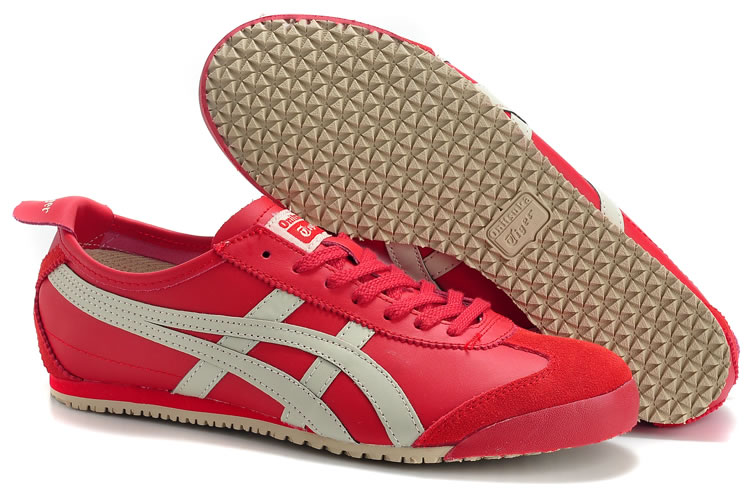 (Red/ Beige) Onitsuka Tiger Mexico 66 Shoes